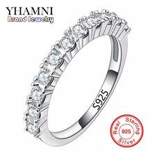 Nueva Manera Del Verano Sólido de Plata Anillos Set AAA CZ Diamond Anillos de boda Para Mujer Pura Plata de Ley 925 Anillo de La Joyería AR144