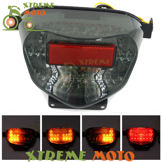 Delightful Motorcycle LED Rear Turn Signal Tail Stop Light Lamp Integrated For Suzuki  GSXR GSXR600 GSXR750 00