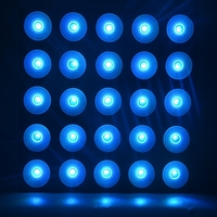 Stage Lighting Effect LED Lights 25 Head DMX RGB Color Matrix Light Forced Air Convection With