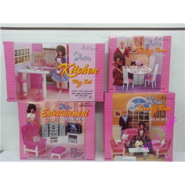 Miniature Furniture Kitchenu0026Diningu0026Entertainmentu0026Living Room For Barbie  Doll House Pretend Play Toys For Girl Free Shipping