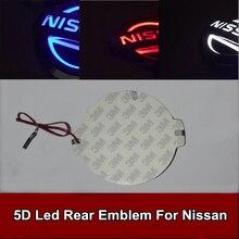 1pcs Car Styling 5D Led Rear Emblem Car Logo Light for Nissan Tiida X-Trall Geniss Livina Cedric
