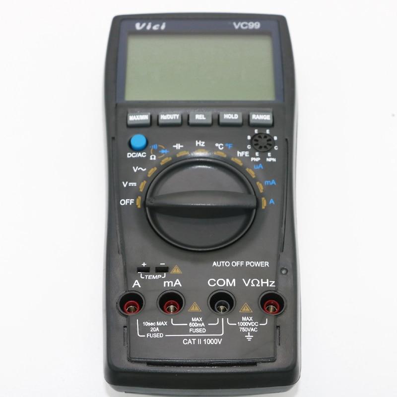 Vici VC99 Auto Range 3 6/7 digitális multiméter 20A ampermérő - Mérőműszerek - Fénykép 3