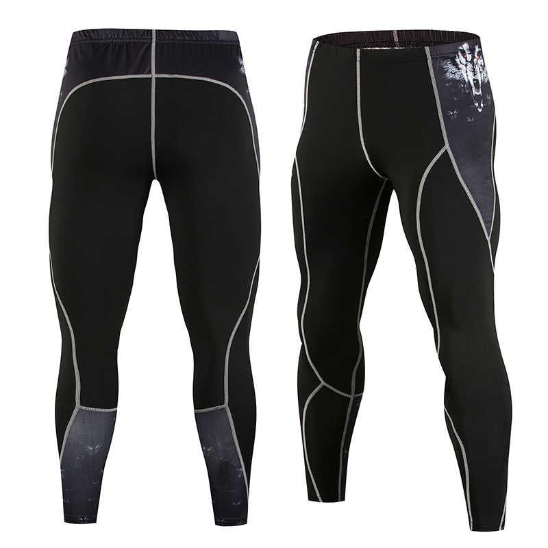d0ac239c60 Gym Compression Pants Men Running Tights Yoga Sport Jogging Pants Leggings  Joggers Bodybuilding Training Trousers Workout