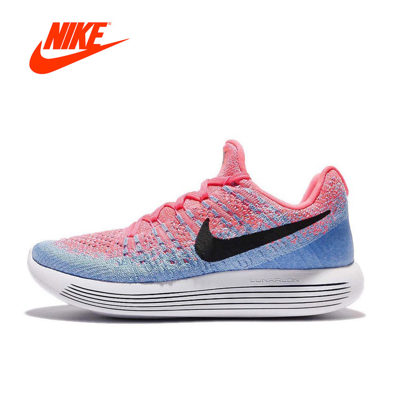 Original New Arrival Official Nike LUNAREPIC LOW FLYKNIT Women's Breathable Running Shoes Sports Sneaker