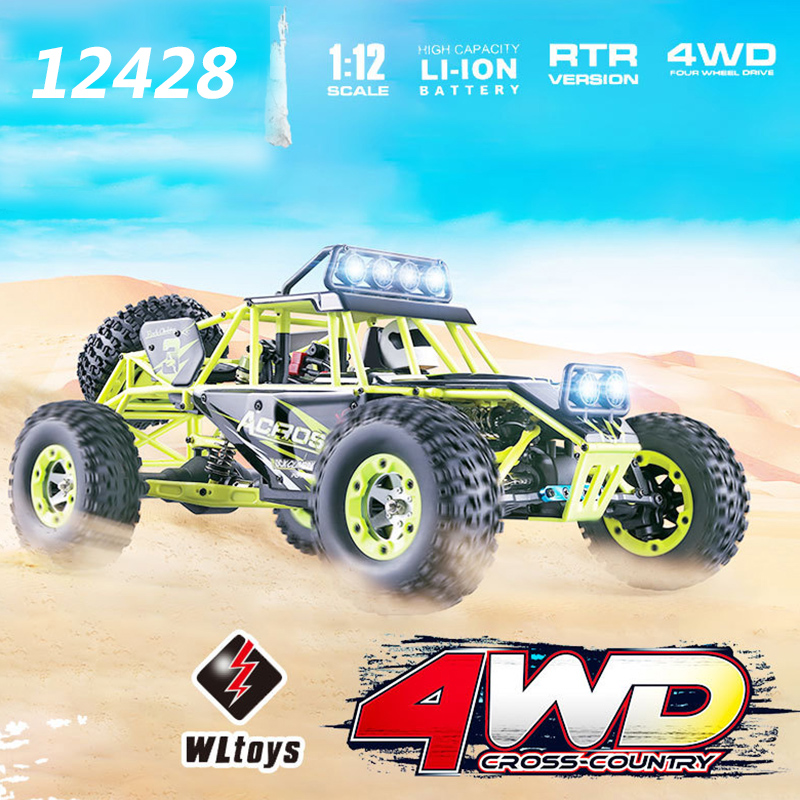 Wltoys 12428 RC Car 4WD 1/12 2.4G 50KM/H High Speed Drift Remote Control Car RC Climbing Off-road Buggy Carro De Controle Remoto wltoys 12428 12423 1 12 rc car spare parts 12428 0091 12428 0133 front rear diff gear differential gear complete