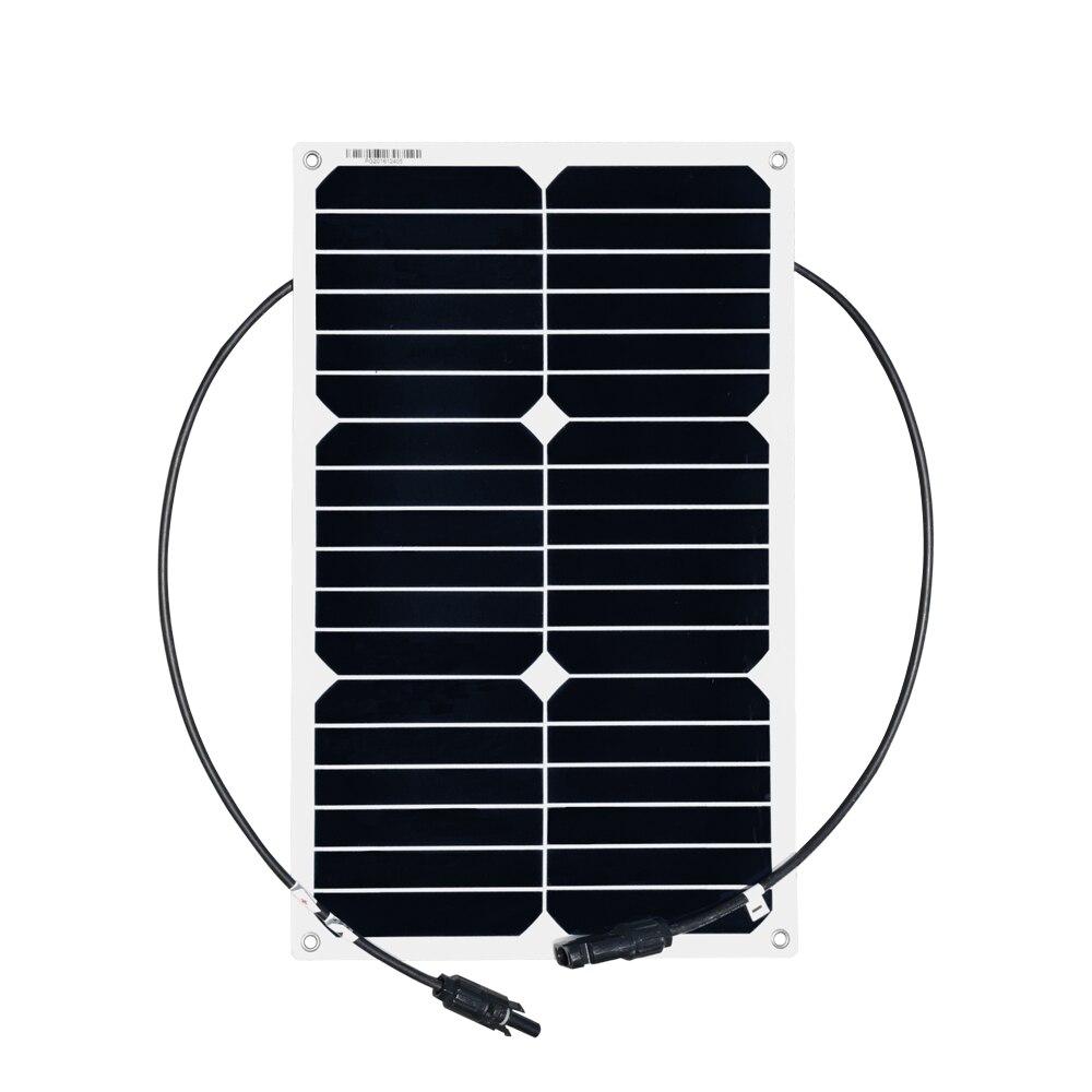 XINPUGUANG 18 W 20 V panneau solaire flexible très efficace cellule lisse 12 V système de chargeur de batterie panneaux solaires monocristallins