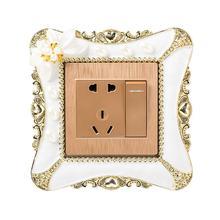 1 шт. 8,6*8,6 см Жемчужный Цветок переключатель наклейка квадратная крышка настенный светильник розетка домашний декор для спальни светильник переключатель наклейка