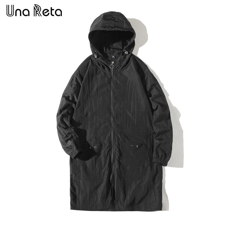 Una Reta Windbreaker Men 2018 Spring Thin Windbreaker Jacket Coat Hip Hop Men Long Hoodie Jacket Tracksuit Fashion Streetwear