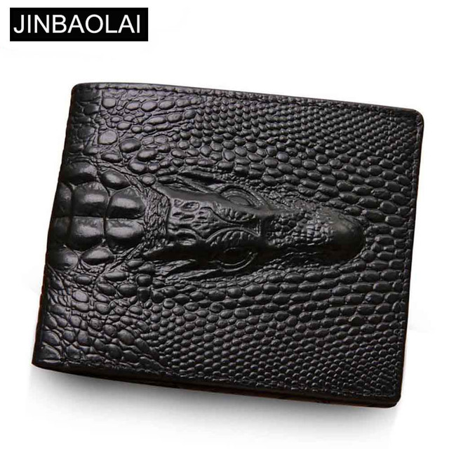 5b63467e47ac US $7.14 41% OFF|Genuine Leather Men Wallets Crocodile pattern Coin Pocket  Black Short Men Leather Wallet Card Holder High Quality Male Purse-in ...