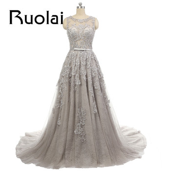 2016 new arrival real sample pictures lace applique beading open v back sweep train formal long.jpg 350x350