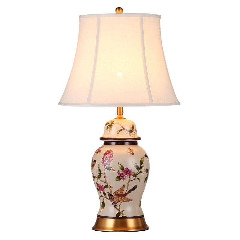 Špičkový pastýřský moderní ručně malovaný čínský keramický materiál E27 stmívatelná stolní lampa z obývacího pokoje Svatba H 60 / 70cm 1087
