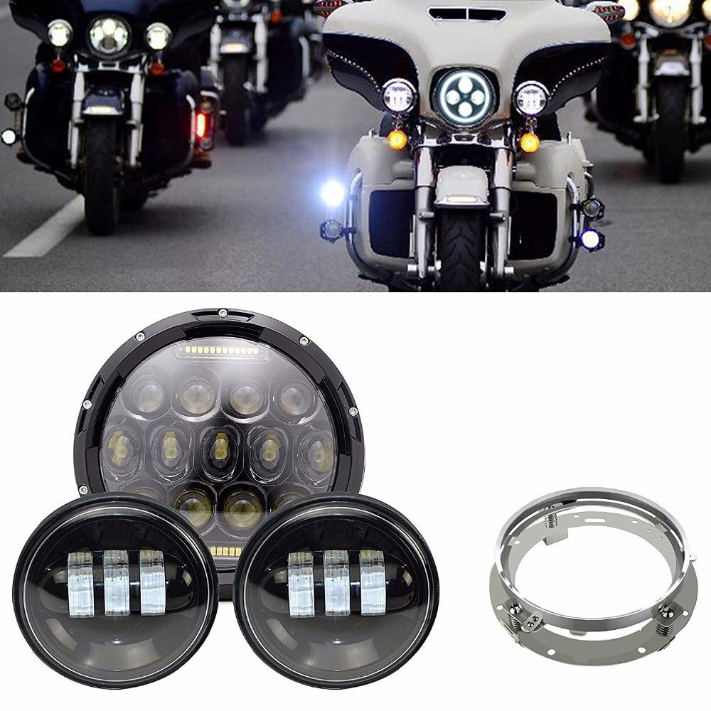 Здесь продается  Black 7 inch Motorcycle Daymaker Replacement LED Headlight + 2 x 4.5