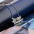 Justin bieber colar Vintage collares mujer corrente de prata gargantilha colares pingentes para as mulheres jóias bijoux gros collier 2016
