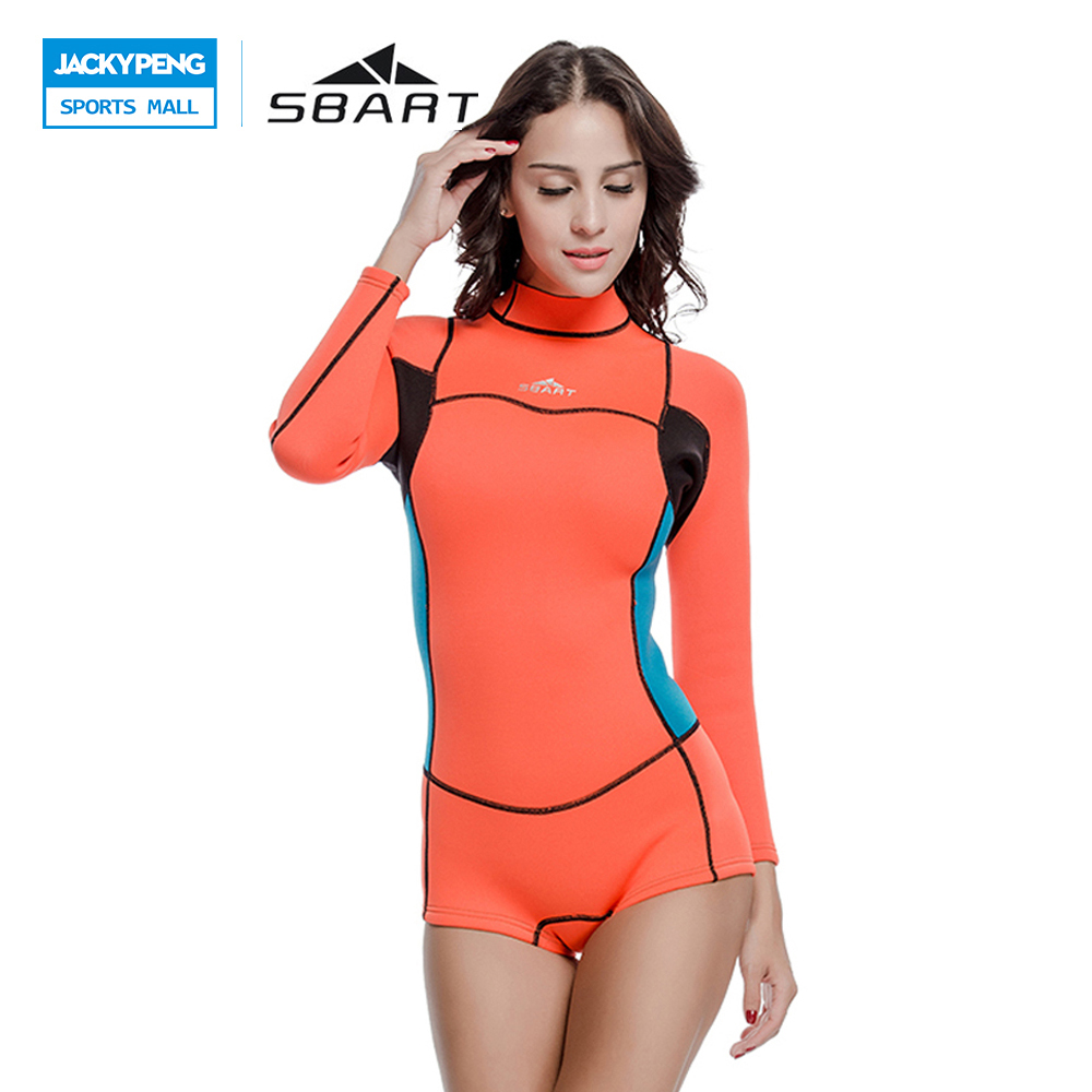 SBART 2018 Wetsuit Women Swimsuit Diving Neoprene Shorty Scuba Diving Surfing Swimweart One-Pieces Diving Equipment