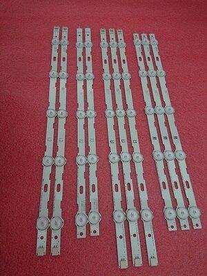 """10pcs/setled Backlight Strip For 42ln5204 42ln5200 6916l-1402a 6916l-1403a 6916l-1404a 6916l-1405a 42"""" V13cdms Lc420due 42ln5300 Reputation First"""