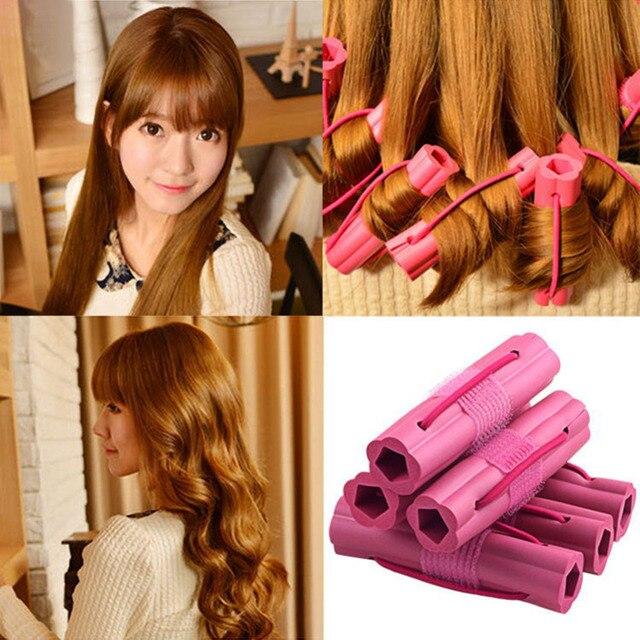 Diy Wavy Hair Tools Foam Sponge Hair Curler Travel Home Use Soft