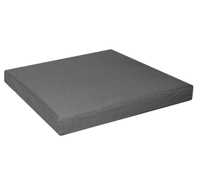 Aa128t Gray Grey 100% Cotton Canvas Square 3D Box Sofa Seat Cushion Case  Sofa Seat Cushion Cover ( Custom Made )