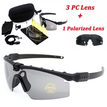 Sport Polarized Tactical Glasses Military Goggles Army Sunglasses With 4 Lens Men Shooting Safety Glasses Motorcycle Eyewear
