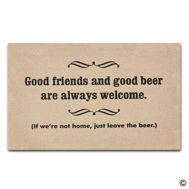 Funny Doormat   Good Friends Good Beer Non Slip Door Mat 18 Inch By 30