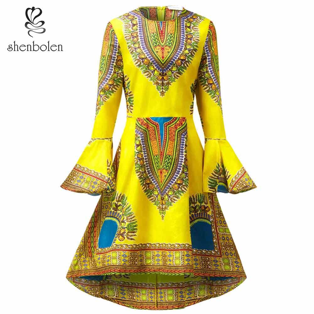 Robes africaines pour femmes mode dashiki vêtements afrique robe traditionnelle coton cire haute qualité robe