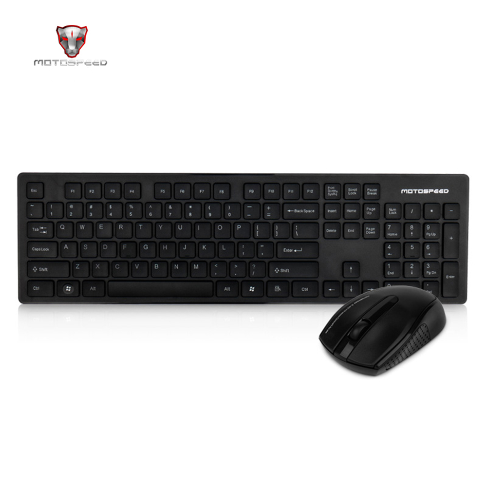 лучшая цена Official Motospeed G4000 2.4G Wireless Keyboard And Mouse Combo USB 2.0 1000DPI Mouse Ergonomics 104 Keys 10 meters