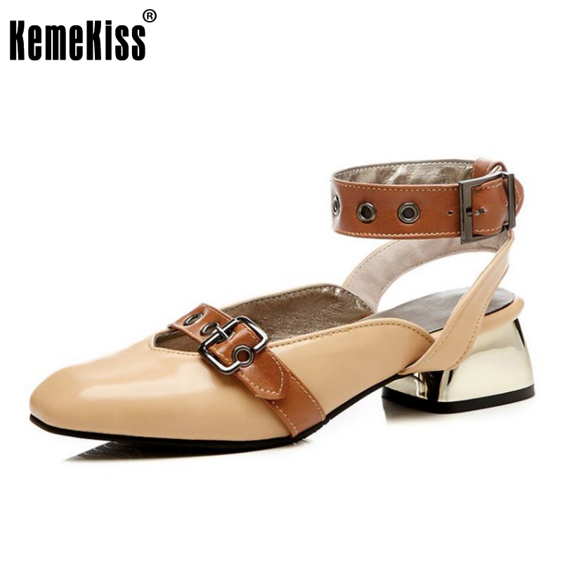 KemeKiss Size 32-48 Fashion Women High Heel Shoes Woman Ankle Strap Buckle Gold Heels Pumps Party Club Shoes Women Footwears kemekiss size 32 48 women point toe shoes high heels women pumps tassels thin heel shoes women sexy party club women footwears