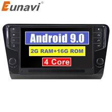 """Eunavi 9 """"1 Din Android 9.0 Car Radio Player di Navigazione GPS 2G di RAM Per Volkswagen Octavia 2014 2015 2016 2017 3G wifi bluetooth"""
