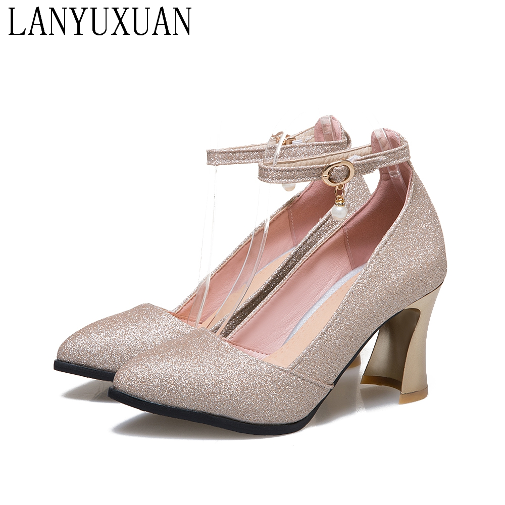 2017 New hot sale Big size 31-48 shoes Woman Wedding ladies high heel  Fashion Sweet Dress pointed toe Women shoes Pumps T181 plus big size 34 47 shoes woman 2017 new arrival wedding ladies high heel fashion sweet dress pointed toe women pumps a 3