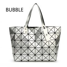 2016 New Fashion Women Pearl Bag Diamond Lattice Tote Geometry Quiltied Handbag BaoBao Woman Geometric Shoulder Bag