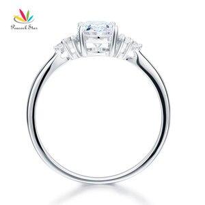 Image 5 - Павлин звезда твердое 925 пробы Серебряное обещание кольцо доступная Свадьба овальной огранки создан Диаманте CFR8123