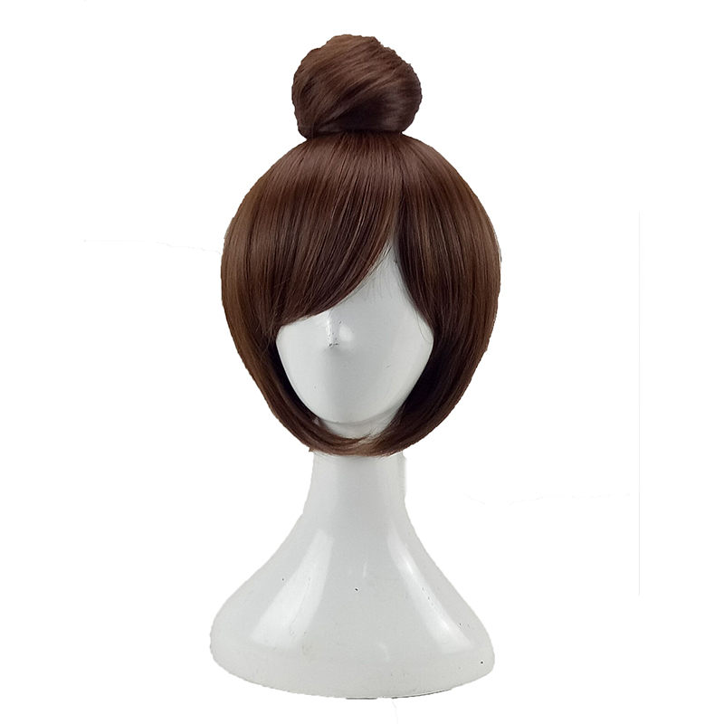 HAIRJOY  Synthetic Hair Tinker Bell Cosplay Wig with Detachable Bun Blonde Brown  Heat Resistant Costume Wigs 52