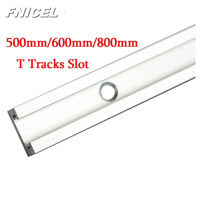20/24/31.5Inch Aluminium T-track Woodworking T-slot Miter Track/Slot 500mm/600mm/800mm T Tracks For Router Table Drop Shipping