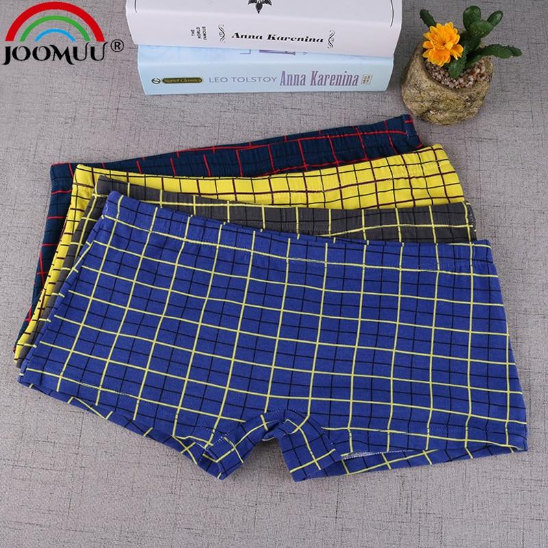 1pcs Tomboy Cotton Boxer Briefs Women Plus Size Underwear Neutral Plaid Loose Les Knickers Underpants
