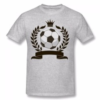 DUTRODU Fashion Soccer Printed T Shirt Short Sleeve Knitted Personalized Tee Summer Casual Short Cotton Cool