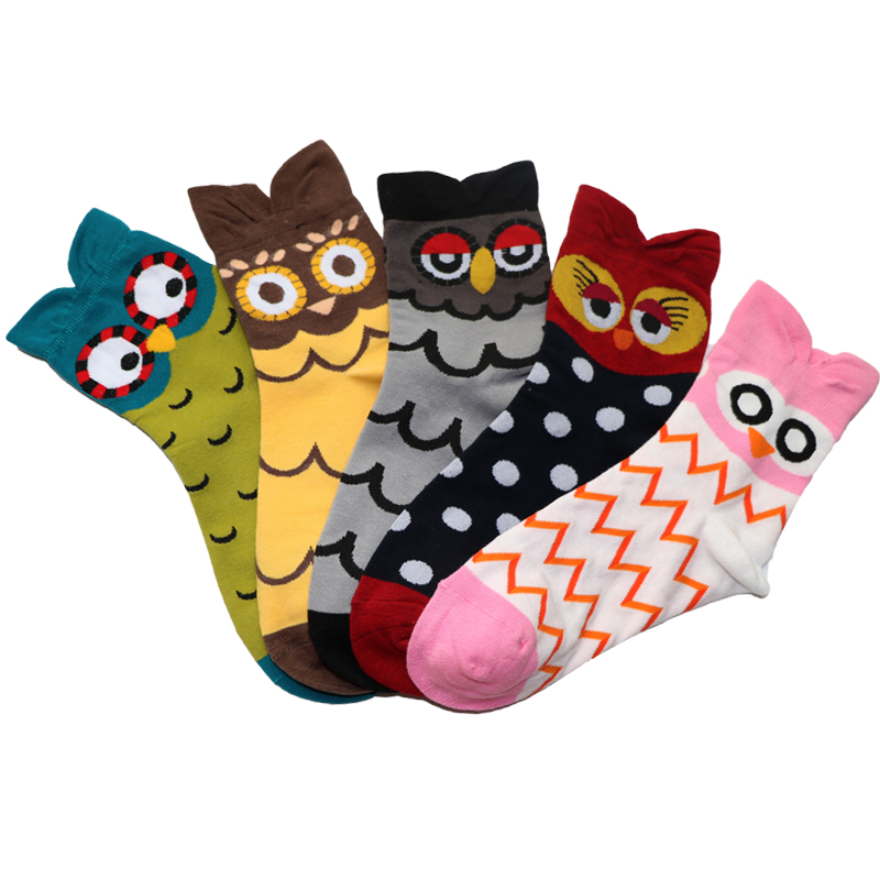 3pair 3d cartoon socks for women funny christmas socks calcetines mujer comfortable cotton blend socks women printed sock meias - Funny Christmas Socks