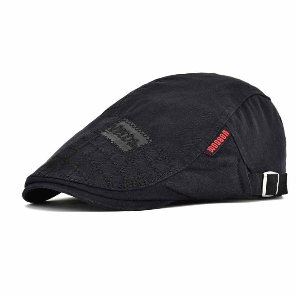 81000279e Detail Feedback Questions about VOBOOM Black Golf Flat Ivy Cap Men ...