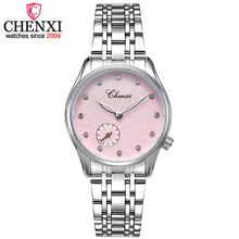 CHENXI Brand Lady Watches Women Quartz Watch Ladies Fashion Wristwatches Women's Leather and stainless steel strap Clock Watch