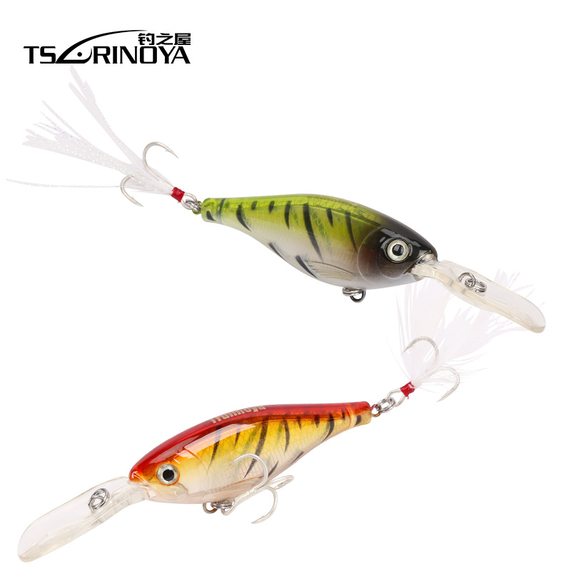 Bait Minnow Quality Professional Fishing Lure Bearking Artificial Depth 1.5-3m