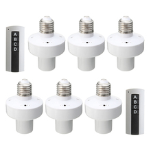 3PCS E27 Screw Wireless Remote Control Light Lamp Bulb Holder Cap Socket Switch Converter Splitter Adapter