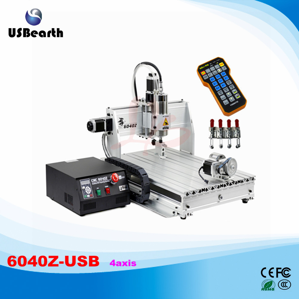 Limit Switch (USB Port) Wood Router 6040 2.2KW CNC Spindle Metal Stone Carving Machine with Mach 3 control, No Tax To EU russia tax free 6040z usb 4 axis1 5kw hot usb cnc 6040 sculpture wood carving cnc router machine with mach3 remote control