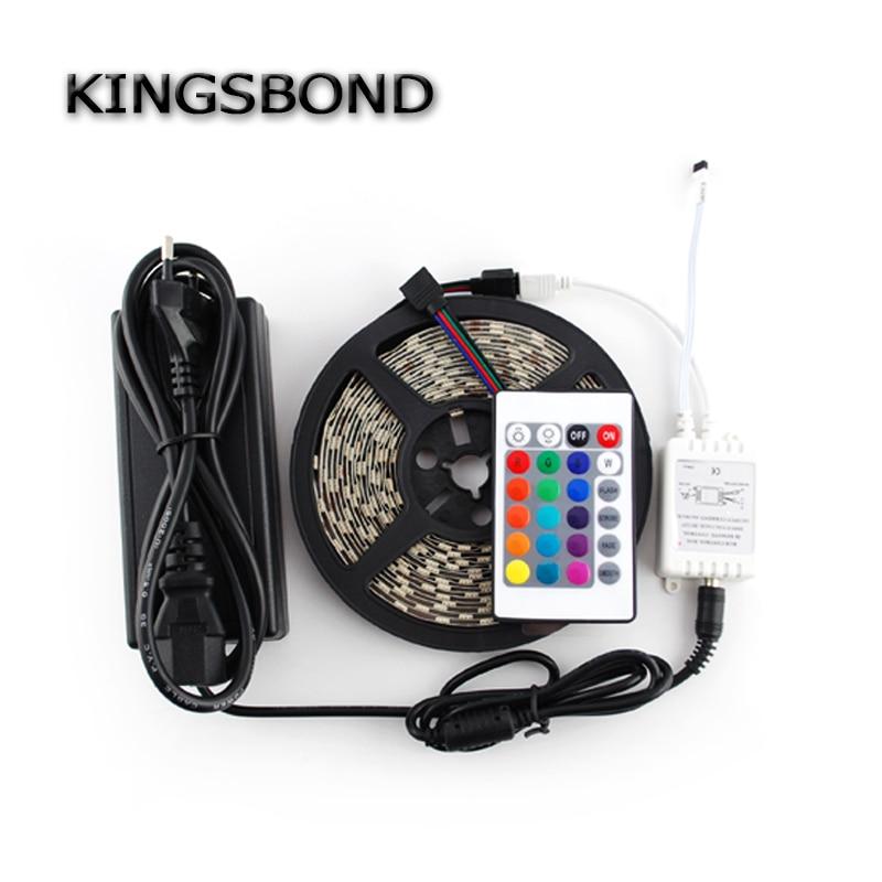 RGB LED Streifen 5050 farbwechsel fleixble streifen kit + 24 Schlüssel ir-fernbedienung + 12 V 5A adapter