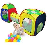 Игрушки для маленьких детей 3 шт./компл. Кабби-трубы-вигвама pop-up play палатка Игрушечные лошадки для Для детей палатка Детские туннель приключ...