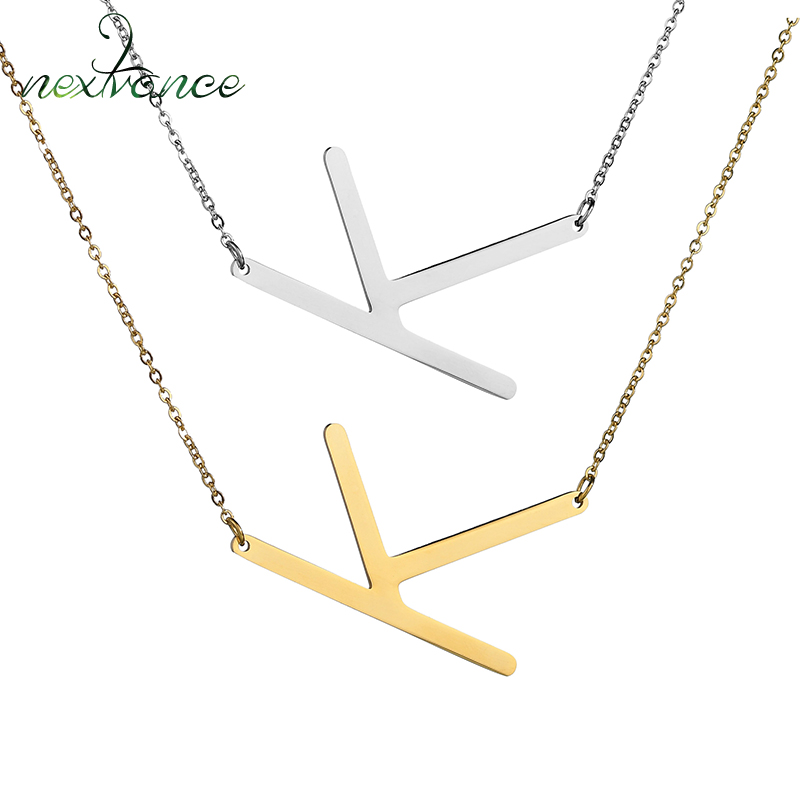 Letter k Necklace ALP Detail Feedback Questions about Nextvance Charm Letter K Necklace Silver  Color Initial Necklaces Clavicle Choker Women Jewelry Collier on  Aliexpress.com ...