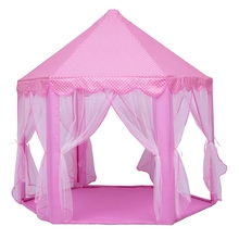 Play Fairy House Indoor And Outdoor Kids Play Tent Hexagon Princess Castle Playhouse For Girls Funny стоимость