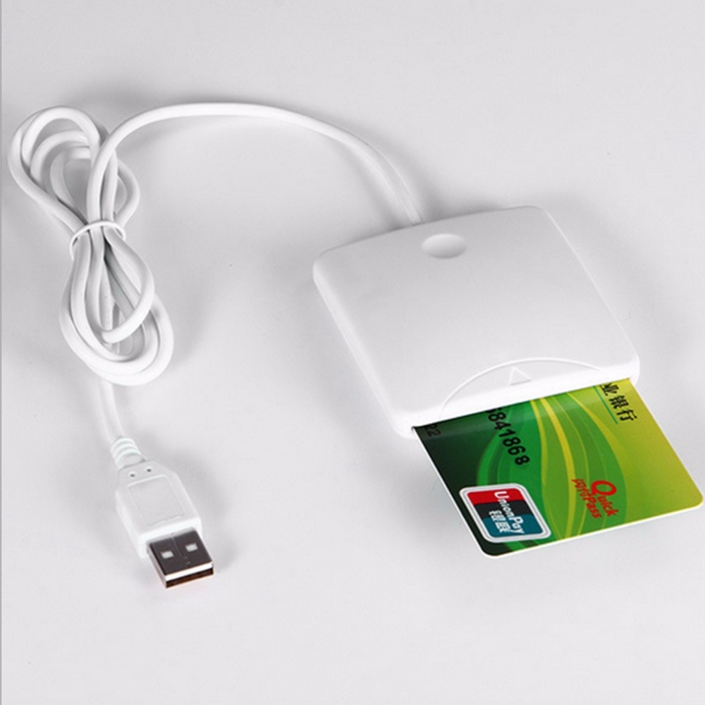 USB Contact Smart Chip Card IC Cards Reader Writer With SIM Slot for Windows Me/for 2000/XP/ or for MAC OS 8.6,9.X image