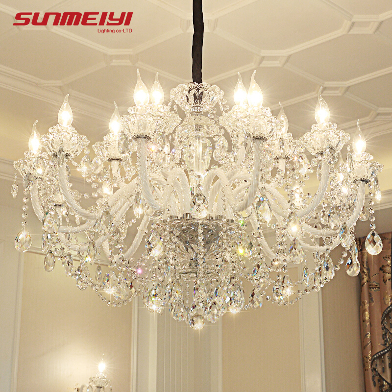 Luxury LED Crystal Chandeliers Lighting lustre cristal For Living room Bedroom Hotel lampadario led Modern Large Chandeliers