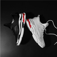 Men Flat Shoes Black /white Spring Summer Male Lightweight Breathable Mesh Trainers Men Casual leather sneakers Shoes II 21
