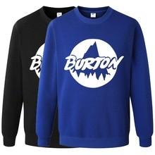Burton Skateboard Sweatshirt Hoodies Fashion Clothes Hip Hop Suit Pullover Men's Tracksuits Autumn Winter Asian Size RAA0461