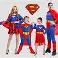 Party a Halloween party clothing street performance adult superman costume suit head coat