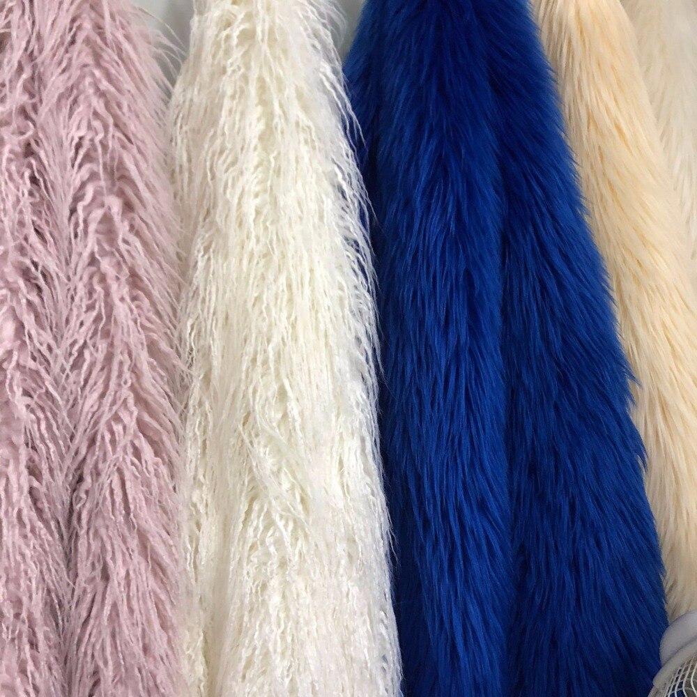 Tissu en soie radis, tissu en laine tombante, laine de plage, peluche, roulement, tissu en fourrure de renard, fourrure artificielle